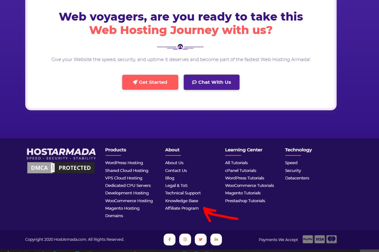 hướng dẫn làm affiliate marketing với hostarmada