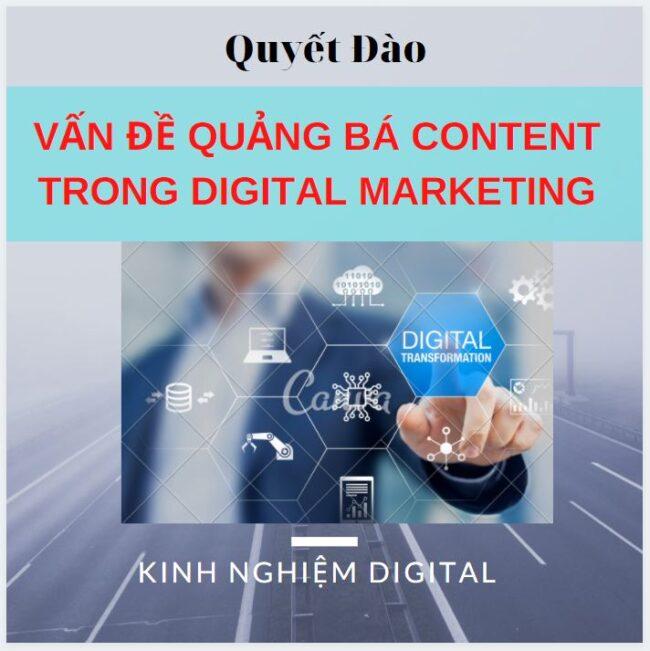 vấn đề quảng bá content trong digital marketing