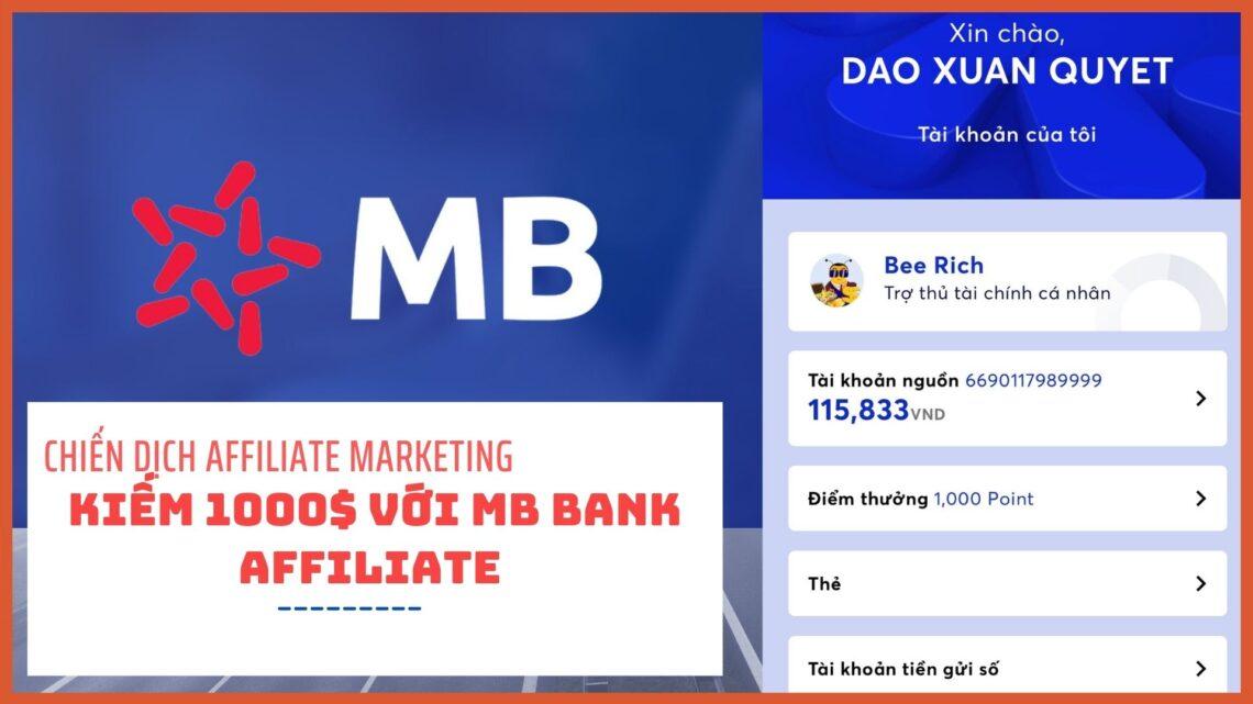 kiếm tiền với mb bank affiliate marketing
